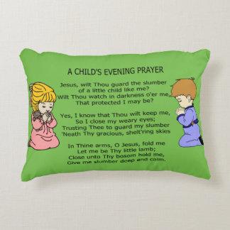 A CHILDS EVENING PRAYER DECORATIVE PILLOW