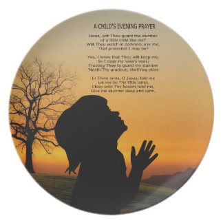 A CHILD'S PARYER AT SUNSET PLATE