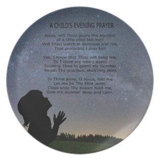 A CHILD'S PARYER IN STARLIGHT PLATE