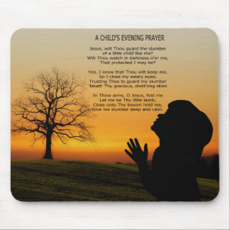 A CHILD'S PRAYER AT SUNSET MOUSE PAD