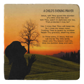 A CHILD'S PRAYER AT SUNSET TRIVET