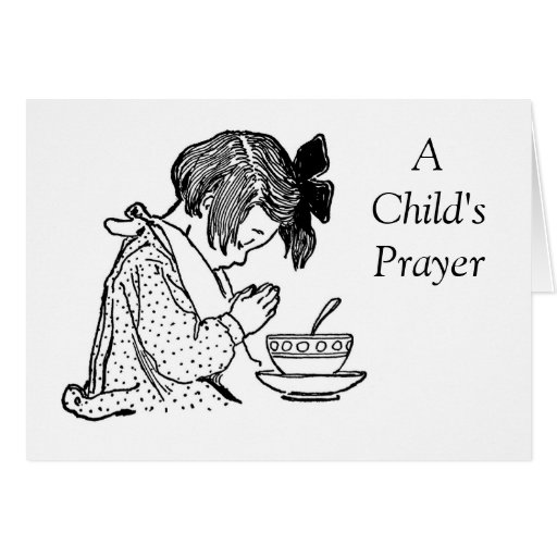 A  Child's Prayer Greeting Cards