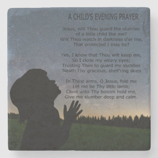 A CHILD'S PRAYER IN STARLIGHT STONE COASTER