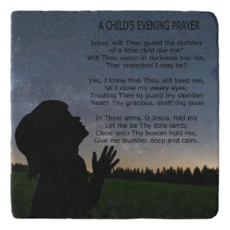 A CHILD'S PRAYER IN STARLIGHT TRIVET