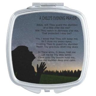 A CHILD'S PRAYER IN STARLIGHT VANITY MIRROR