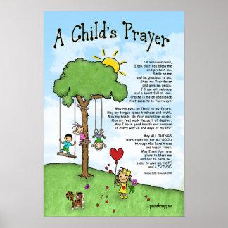 A Child's Prayer (Scriptures: Romans/Jeremiah) Poster