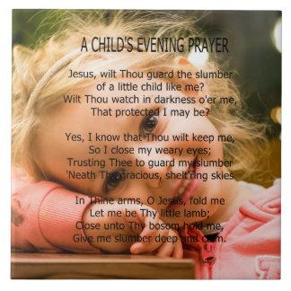A CHILD'S PRAYER TILE