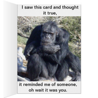 A_Chimp_Called_Chip,_Change Text_Greeting_Card. Card