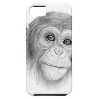 A Chimpanzee, Not Monkeying Around Sketch iPhone 5 Covers