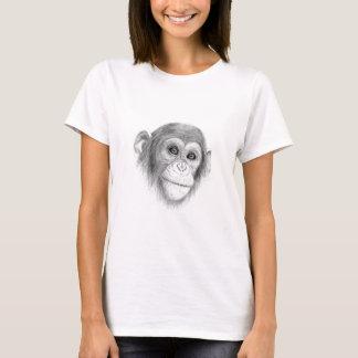 A Chimpanzee, Not Monkeying Around Sketch T-Shirt