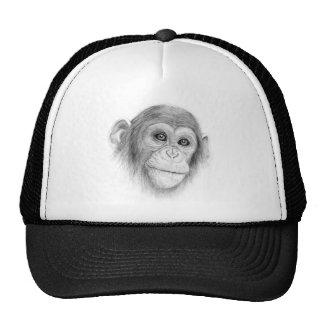 A Chimpanzee, Not Monkeying Around Sketch Trucker Hat