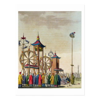 A Chinese circus, illustration from 'Le Costume An Postcard
