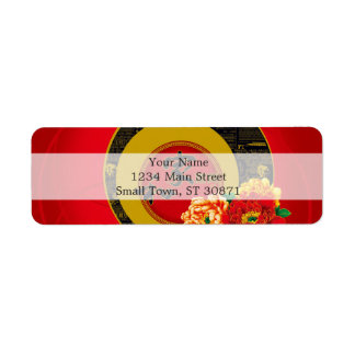 A Chinese ornament of good luck and prosperity Return Address Label