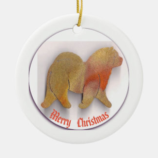 A  Chow Chow Christmas  Ornament