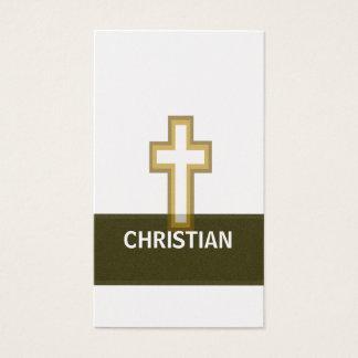 A Christian Golden Faith  Cross Business Card