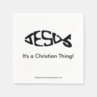 A Christian Thing Paper Napkin