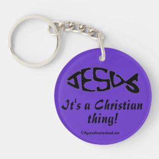 A Christian Thing Single-Sided Round Acrylic Keychain