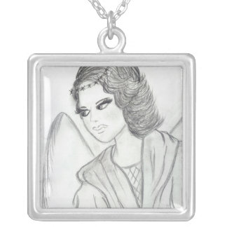A Christmas Angel Silver Plated Necklace