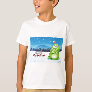A christmas card with a green monster T-Shirt