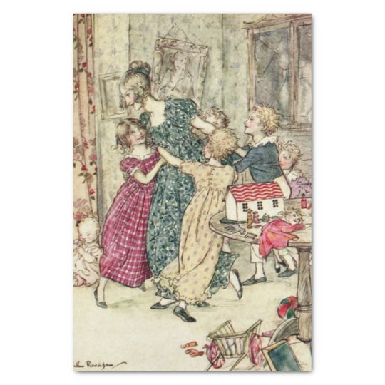 A Christmas Carol A Flushed and Boisterous Group Tissue Paper