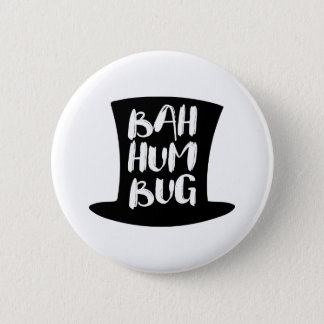 A Christmas Carol Bah Humbug Holiday Round Button
