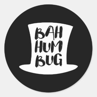 A Christmas Carol Bah Humbug Holiday Round Sticker
