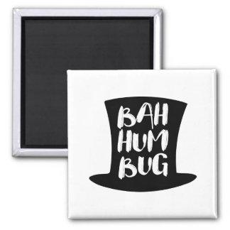 A Christmas Carol Bah Humbug Holiday Square Magnet