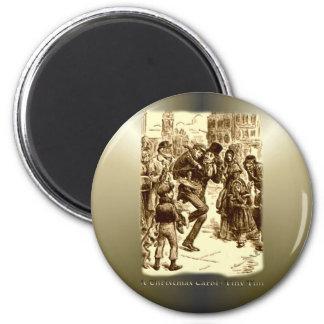 A Christmas Carol - Tiny Tim 2 Inch Round Magnet
