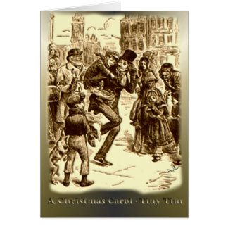 A Christmas Carol - Tiny Tim Greeting Card