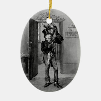 A Christmas Carol: Tiny Tim Ceramic Oval Ornament