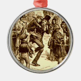 A Christmas Carol - Tiny Tim Silver-Colored Round Ornament
