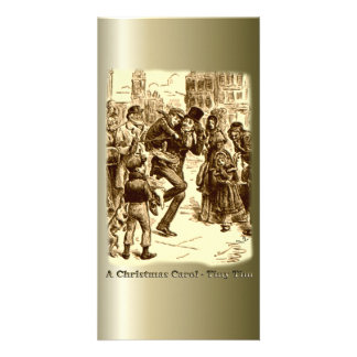 A Christmas Carol - Tiny Tim Personalized Photo Card