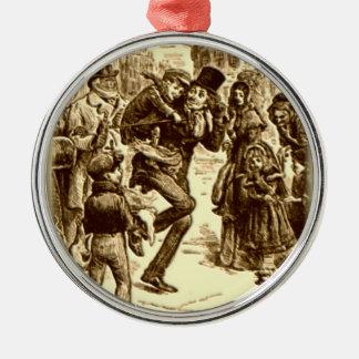 A Christmas Carol - Tiny Tim Silver-Colored Round Ornament