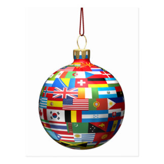 A Christmas decoration bauble Postcard