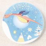 A Christmas Dragon Drink Coaster