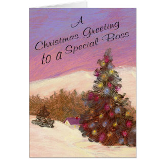 A Christmas Greeting To A Special Boss Card