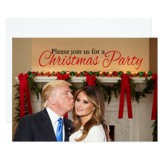 A Christmas invitation from Donald and Melania