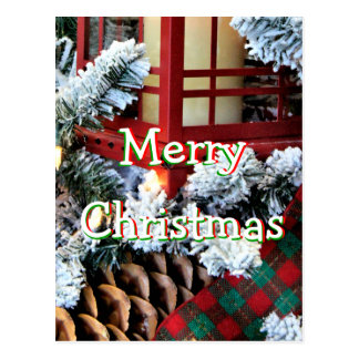 A Christmas Lantern 1558-1- -personalize it Postcard