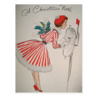 A Christmas Note Vintage Retro Postcard