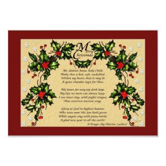 A Christmas Prayer Card