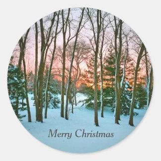 A Christmas Sunrise Envelope Stickers