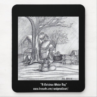 A Christmas Winter Day Mouse Pad