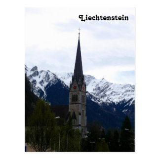 A Church in Vaduz, Liechtenstein Postcard
