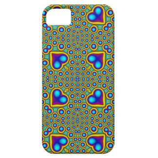 A Circle and hearth pattern iPhone 5 Case