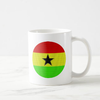 A Circle Ghanaian Flag Coffee Mug