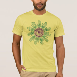 A circle of hands and an Eye T-Shirt