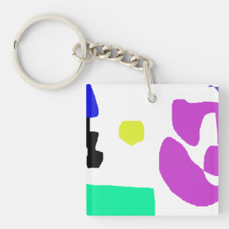 A City Corner Single-Sided Square Acrylic Keychain