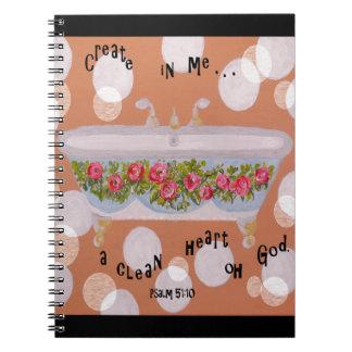 A Clean Heart Spiral Notebook