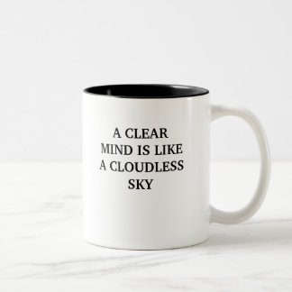 A CLEAR MIND IS LIKE A CLOUDLESS SKY Two-Tone COFFEE MUG