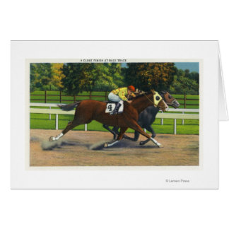 A Close Finish at the Race Track, Horses Card